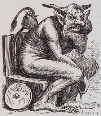 BELPHEGOR - Demon of discoveries and of ingenious inventions. Some claim he must be worshipped on a toilet, with offerings being the residue of ones' digestion.