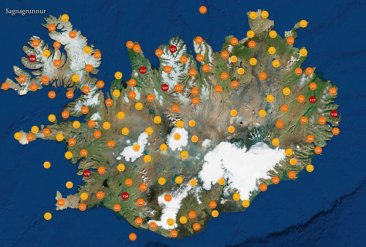 Icelandic folk legends Map