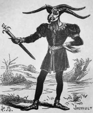 LEONARD - Chief of the subaltern demons, and inspector general of sorcery, black magic and witchcraft. From the waist up, Leonard has a goat's body with 3 horns on his head, a goat's beard, hair-like bristles, 2 ears like foxes, and inflamed eyes. He also has a face on his butt, which witches kiss while holding a green candle to adore him. Leonard's attitude is reserved and melancholic, but when he appears at witch and devil assemblies, he is commanding and uses situations to his advantage.