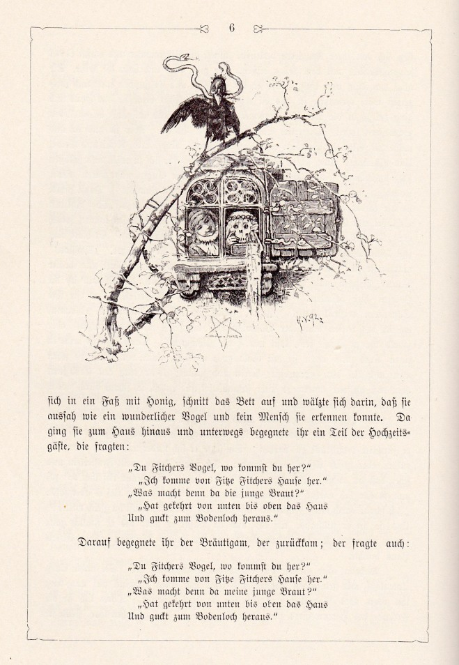 Fitcher's Bird 2 (Grimms - illust. by H. Vogel)