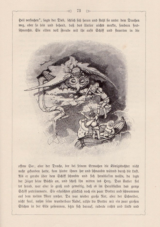 The Four Skillful Brothers (Grimms - illust. by H. Vogel)