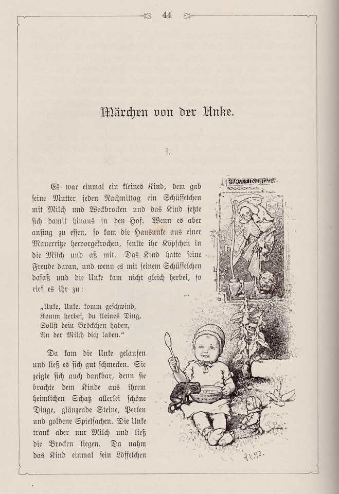 The tale of the toad (Grimms - illust. by H. Vogel)