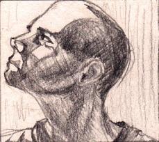 Portrait sketch - lighting study by Kay De Garay