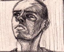 Portrait Sketch - Man looking up
