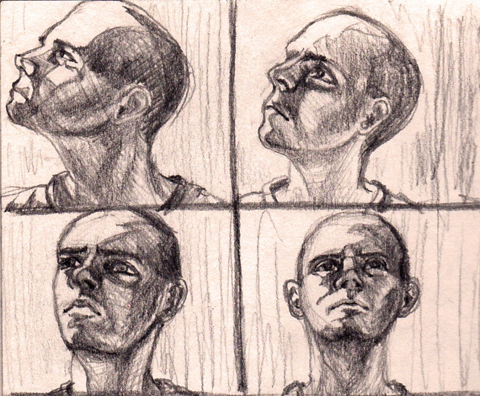 face lighting study