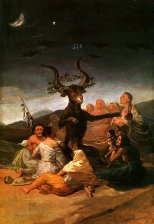 "Painting - ""Witches' Sabbath"" (Goya, 1798)"