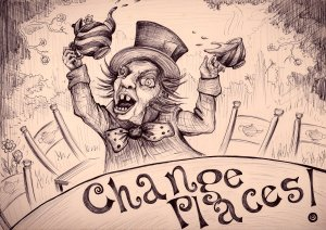 Mad Hatter Drawing by Kay De Garay