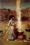 "Painting - ""The Magic Circle"" by John William Waterhouse"