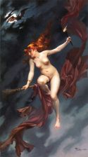 "Painting - ""Festival of the Witches"" by Luis Ricardo Falero (1880)"