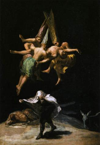 "Painting - ""Witches' Flight"" (Goya, 1798)"