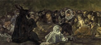 "Painting - ""Witches' Sabbath"" (Goya, 1823)"