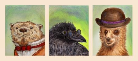 Animals drawing by Kay De Garay