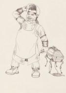 Drawing by Kay De Garay