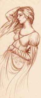 Pencil sketch of a Woman by Kay De Garay