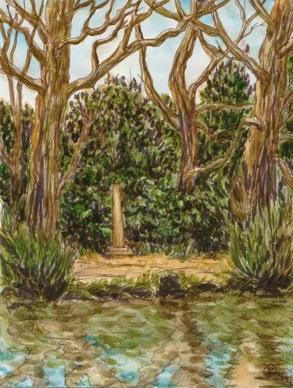 Watercolour Landscape by Kay De Garay