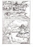 Comic page sketch by Kay De Garay