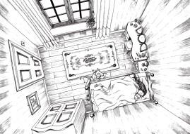 Pen Drawing by Kay De Garay