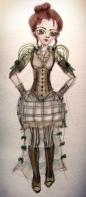 Steampunk Character Sketch by Kay De Garay