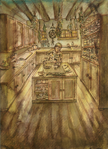 "Illustration from Short Story ""Feeder"""