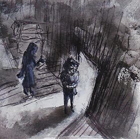 Pen & Ink drawing by Kay De Garay